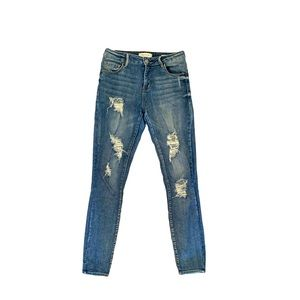 Pacsun high-rise skinniest distressed jeans 25